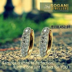 Designer Stud Earrings Earrings crafted to perfection, for the one just perfect for you..!! The surreal beauty of you, captured in a timeless piece! Own it Now:http://ow.ly/SyxL306ysGC