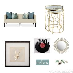 Home Decor With Outdoor Furniture, Accent Table, Framed Wall Art And Clock