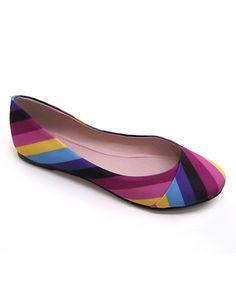 Purple Retro Ballet Flat