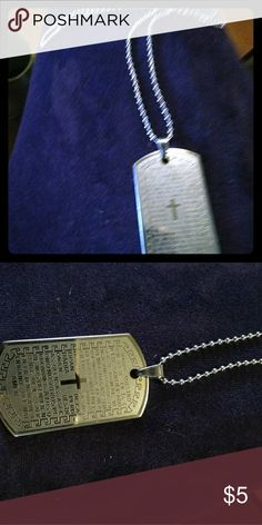 Dog tag necklace A Spanish Lord's prayer necklace Jewelry Necklaces