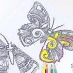 3 Flower Swirl Coloring Pages for Adults - Easy Peasy and Fun---- Great stress reliever