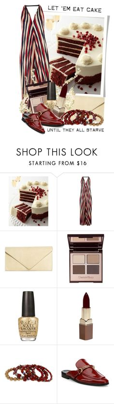 """""""let'em eat cake until they starve"""" by queenrachietemplateaddict ❤ liked on Polyvore featuring aNYthing, Frosted Art Bakery, Tome, Brooks Brothers, Charlotte Tilbury, OPI, Fashion Fair, Erica Lyons and STELLA McCARTNEY"""