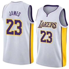 d2839c98c4c New Los Angeles Lakers Lebron James Jersey  23 Basketball Jersey Embroidery  2018