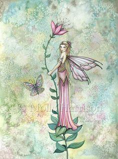 Resto de un hada de la flor impresión de por MollyHarrisonArt