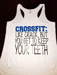 Crossfit Like Crack Tank Top by RunBandz on Etsy