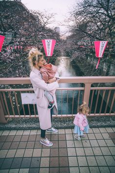 Meguro River in Tokyo - Barefoot Blonde by Amber Fillerup Clark Baby Car Mirror, Amber Fillerup, Barefoot Blonde, Leave Early, Kids Running, Love You Baby, Foto Pose, Family Goals, Japan Fashion