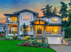 Northwest charm shines out at you in this three level Craftsman house plan.There's also an abundance of porches and decks for your outdoor enjoyment.Views of the beautiful formal dining room can be seen right from the front door.To the side, the main living area is L-shaped with an open layout that let's everyone be together, whether cooking, watching TV or eating in the nook.The first floor den can easily serve as a fourth bedroom with its big closet and nearby bathroom.Three other bedrooms…