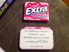 "Good luck gift for cheer competition. ""The difference between ordinary and extraordinary is that something extra"" Motivational/inspirational gift for team members"