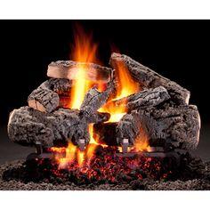 Cross Timbers Gas Log Fireplace Glass Doors, Gas Fireplace Logs, Fireplace Tool Set, Black Fireplace, Fireplace Screens, Fireplaces, Fireplace Ideas, Fireplace Mantles, See Through Fireplace