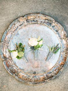 Floral Design: Fragrant Design - http://www.stylemepretty.com/portfolio/fragrant-design Photography: Kristin La Voie Photography - kristinlavoiephotography.com   Read More on SMP: http://www.stylemepretty.com/2016/08/01/rustic-glam-wedding-inspiration-win/