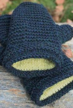 Double Lined Mittens - Knitting Patterns by Amanda Lilley