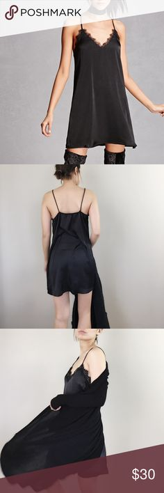 """Simply sexy satin lace dress In trend celebrity slip dress with lace hem. Sexy dress this season. Size S bust 36"""", length 33"""" . Size M : bust 37"""", length 33"""". Size L: bust 38"""", length 34"""". Size XL: bust 39"""", length 34.5"""".. style; Kim kardashian, Rihanna . CHICBOMB Dresses Mini"""