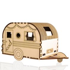 solar wooden nightlight - retro caravan by lumilight