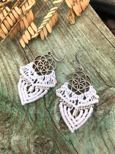 Macrame Earrings, Unique Gifts, Handmade Gifts, Micro Macrame, Kids Gifts, Iris, Kid Craft Gifts, Craft Gifts, Diy Gifts