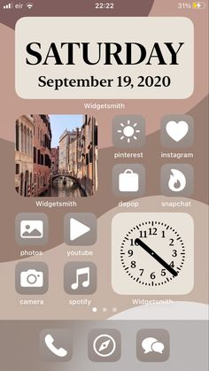 Iphone Home Screen Layout, Iphone App Layout, Iphone App Design, Walpapers Iphone, Ios Phone, Iphone Icon, Iphone Life Hacks, Phone Themes, Ios App Icon