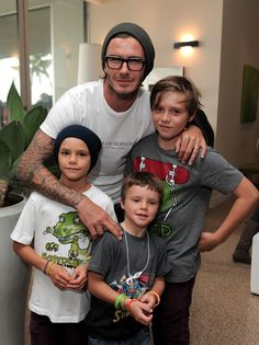 Hottest dad, ever. David Beckham.