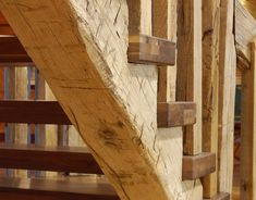 Old barn beam = new stairs nice