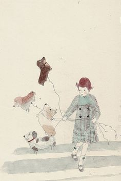 "Most of my childhood daydreams looked something like this. ""Cadence loves dogs,"" by Katey Jean Harvey."
