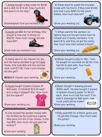 Year 5 / Grade 5 Class Activities and News: Maths Ideas Money Activities, Class Activities, Year 5 Maths, Math Quotes, 1st Grade Math, Fourth Grade, Math Place Value, Math Poster, Math Word Problems