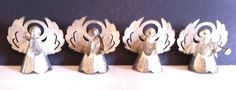 4PC Collectable Vintage  Metal Christmas Holiday Angel  Ornaments stores.ebay.com/urbanreseller
