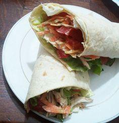 Sandwich poulet et crudités