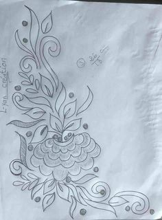 Folk Embroidery, Hand Embroidery Designs, Flower Sketches, Edwardian Dress, Pencil Drawings, How To Draw Hands, Acro, Templates, Stitch