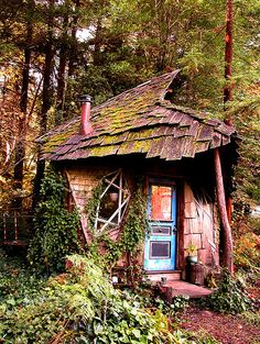 Fred and Ed's cabin at Camp Joy, an organic farm in the Santa Cruz Mountains, Santa Cruz, CA