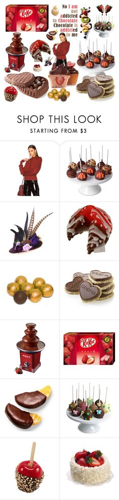 """""""Dide addiction of Chocolate"""" by didesi ❤ liked on Polyvore featuring interior, interiors, interior design, home, home decor, interior decorating, Chloé, Golden Edibles, Nostalgia Electrics and Chocolate Covered Company"""