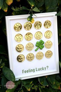 St Patrick's DIY art using dollar store coins