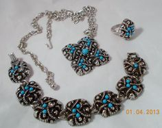 AVON 3 Piece Necklace Bracelet and Ring Silver by MelaniesFabFinds, $35.00