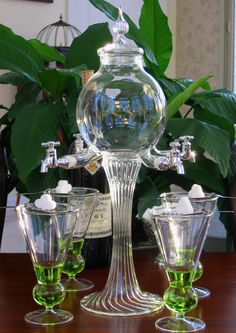 Rozier Absinthe Fountain Set With Glasses And Spoons