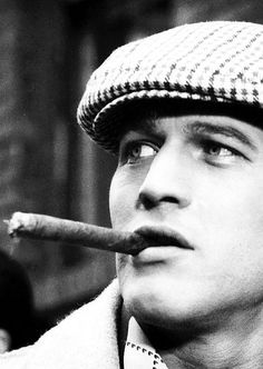 ♂ Man, portrait, black & white, Paul Newman.