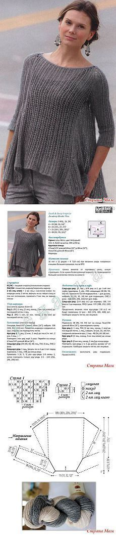 Вязание туники Lush & lacy trapeze из журнала Knitter's 112. - ВЯЗАНАЯ МОДА+ ДЛЯ НЕМОДЕЛЬНЫХ ДАМ - Страна Мам
