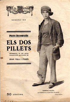 Els dos pillets - Pierre Decourcelle - Traducció de Joan Vila i Pagés - LA ESCENA CATALANA nº 185 - 19.09.1925