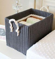 Tároló doboz megunt pulóverből / Mindy -  kreatív ötletek és dekorációk minden napra