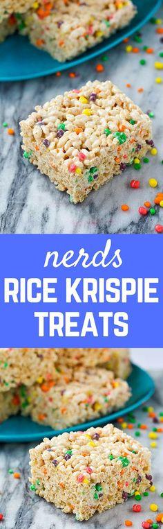 Nerds Rice Krispie Treats - http://RachelCooks.com