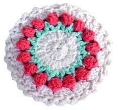 Maggie's Crochet · Free Rosebud Potholder Pattern...Thanks for sharing!