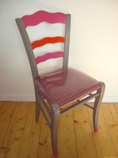Chaise style Louis Philippe tissu PETIT PAN