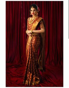 Pattu Sarees Wedding, Bridal Sarees South Indian, South Indian Wedding Saree, Designer Sarees Wedding, Wedding Saree Blouse Designs, Wedding Silk Saree, Indian Silk Sarees, Indian Bridal Fashion, Indian Bridal Wear
