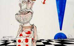 Jeremy Corbyn by Ralph Steadman - In New Statesman 29/07/15