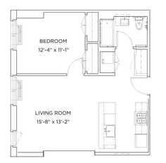1 Bedroom House Plans | ... 53rd Street Rentals | Mercedes House |  Apartments