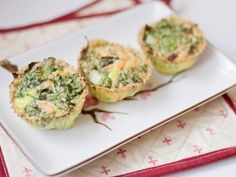 Spinazie zalm muffin