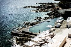 Recently, browsing summer travel destinations on Design Hotels, I discovered Hotel Les Roches Rouges, a new seaside resort in Saint Raphaël on France's Côt Best Vacation Destinations, Best Vacations, Holiday Destinations, Cannes, Beste Hotels, Hotel Pool, Beautiful Hotels, Beautiful Life, Beautiful Places