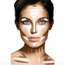 Contour guide for stage makeup