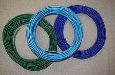 Textilkabel blau, grün + türkis Garden Hose, Blue Green