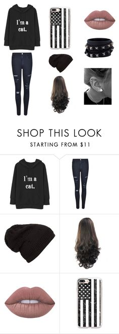 """""""i am cat"""" by eilnsita-sws ❤ liked on Polyvore featuring Frame, Lime Crime, Casetify and Valentino"""