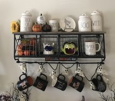 Rae Dunn Halloween display Coffee bar