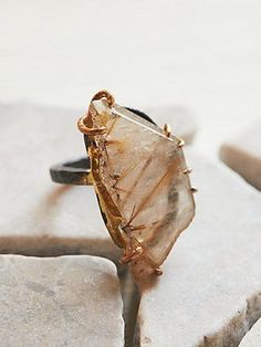 Rutilated Quartz Ring by Variance objects from free people jewelry fashion