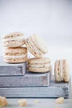 For these macarons Use almond marzipan from odense-marcipan.us for a better flavor. Its much tastier than the marzipan found in most US grocery stores. Macarons, Sweet Desserts, Sweet Recipes, Holiday Desserts, Baking Recipes, Dessert Recipes, French Macaroons, Macaron Recipe, The Best
