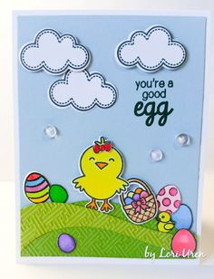 Sunny Studio: A Good Egg Customer Cards and Happy Easter Wishes!